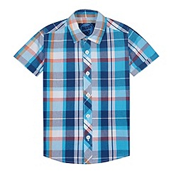 bluezoo - Boy's blue large checked shirt