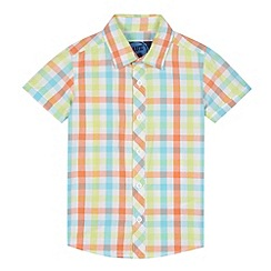 bluezoo - Boy's orange gingham checked shirt