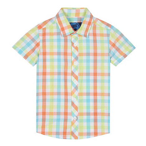 Bluezoo Boy 39 S Orange Gingham Checked Shirt Debenhams