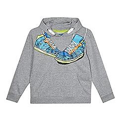 bluezoo - Boy's grey trainer print sweat hoodie