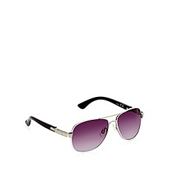 Mantaray - Boy's white rim aviator sunglasses
