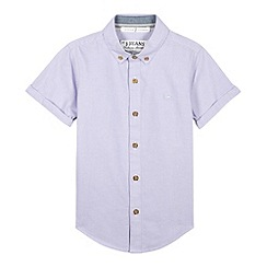 J by Jasper Conran - Designer boy's lilac oxford shirt