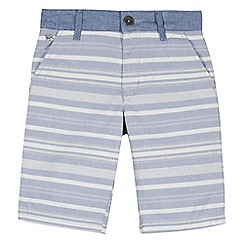 J by Jasper Conran - Designer boy's light blue striped chambray shorts