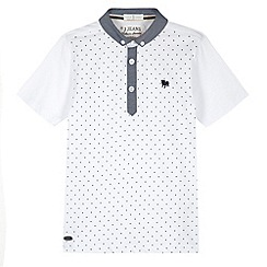 J by Jasper Conran - Designer boy's white spotted polo shirt