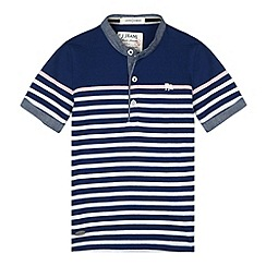 J by Jasper Conran - Designer boy's navy striped henley t-shirt
