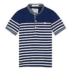 J by Jasper Conran - Designer boy's navy striped henley t-shirt