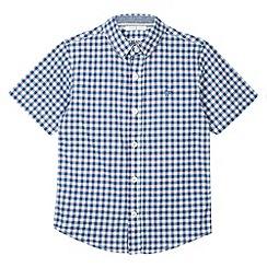 J by Jasper Conran - Designer boy's lilac gingham checked shirt