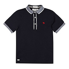 J by Jasper Conran - Designer boy's navy textured collar polo shirt