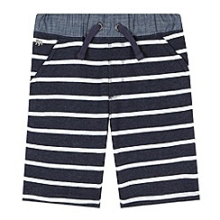 J by Jasper Conran - Designer boy's navy striped sweat shorts
