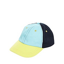 bluezoo - Boy's turquoise colour block baseball cap