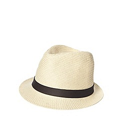 bluezoo - Boy's natural woven trilby hat