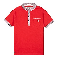 J by Jasper Conran - Designer red gingham trim polo shirt