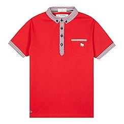 J by Jasper Conran - Designer red gingham trim polo shirt