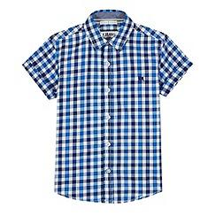 J by Jasper Conran - Designer boy's blue large gingham shirt