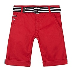 J by Jasper Conran - Designer boy's red belted chino shorts