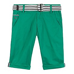 J by Jasper Conran - Designer boy's green belted chino shorts
