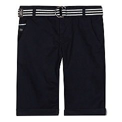 J by Jasper Conran - Designer boy's navy belted chino shorts