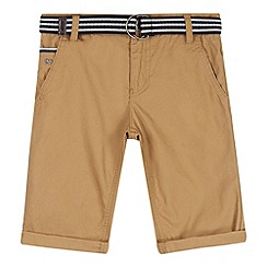 J by Jasper Conran - Designer boy's beige belted chino shorts
