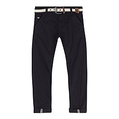 J by Jasper Conran - Designer boy's navy twisted belted chinos
