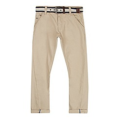 J by Jasper Conran - Designer boy's beige belted twisted leg chinos