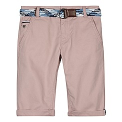 J by Jasper Conran - Designer boy's pink belted chino shorts