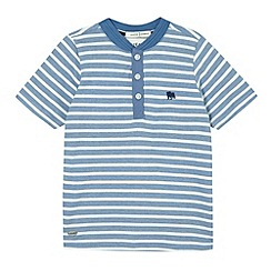 J by Jasper Conran - Designer boy's blue striped baseball t-shirt