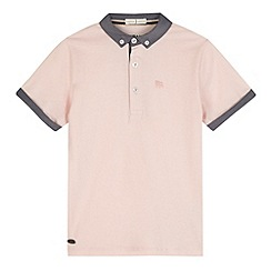 J by Jasper Conran - Designer boy's pink chambray collar polo shirt