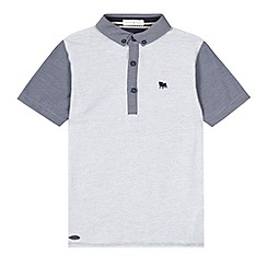 J by Jasper Conran - Designer boy's grey spotted chambray polo shirt