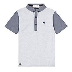 J by Jasper Conran - Designer boy's grey spotted chambray polo shirt