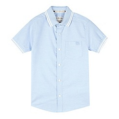 J by Jasper Conran - Designer boy's blue oxford trim shirt