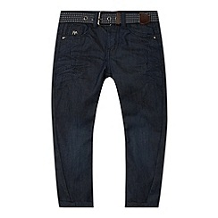J by Jasper Conran - Designer boy's dark blue twist belted jeans