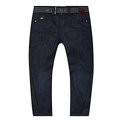 J by Jasper Conran - Designer boy's dark blue twist belted jeans