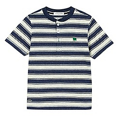 J by Jasper Conran - Designer boy's navy striped baseball t-shirt