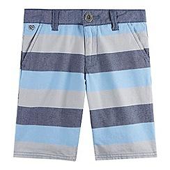 J by Jasper Conran - Designer boy's blue block striped shorts