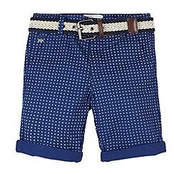 J by Jasper Conran - Designer boy's navy geo print shorts