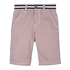 J by Jasper Conran - Designer boy's red micro check shorts