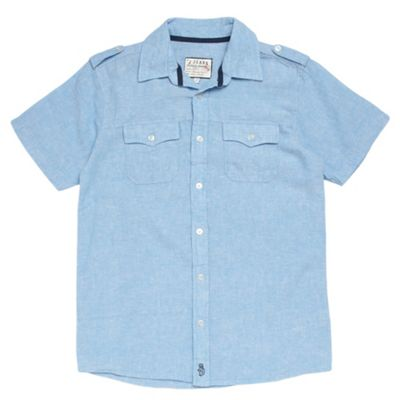 Boys Light Blue Linen Shirt