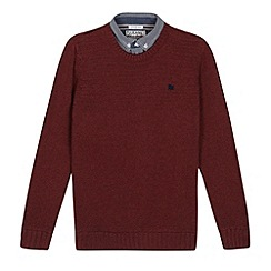 J by Jasper Conran - Designer boy's red mock jumper