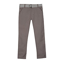 J by Jasper Conran - Designer boy's grey textured belted slim fit trousers