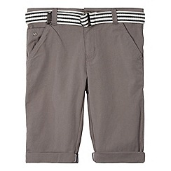 J by Jasper Conran - Designer boy's grey belted textured chino shorts