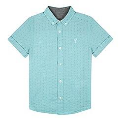 RJR.John Rocha - Designer boy's turquoise jacquard shirt
