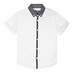RJR.John Rocha - Designer boy's white contrast placket shirt