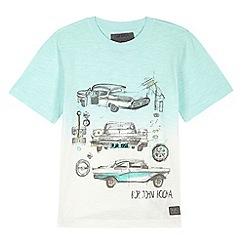 RJR.John Rocha - Designer boy's green car illustration dip dye t-shirt