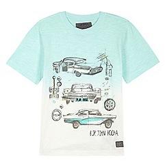 RJR.John Rocha - Designer boy's green car illustration dip dye t-shirt