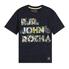 RJR.John Rocha - Designer boy's navy mechanical logo t-shirt