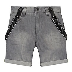 RJR.John Rocha - Designer boy's grey denim shorts with braces