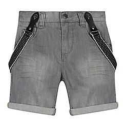 RJR.John Rocha - Designer boy's grey denim shorts with braces