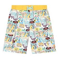 Mantaray - Boy's multi-coloured beach signs printed swim shorts