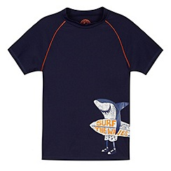 Mantaray - Boys navy shark rash vest