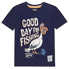Mantaray - Boy's navy pelican t-shirt